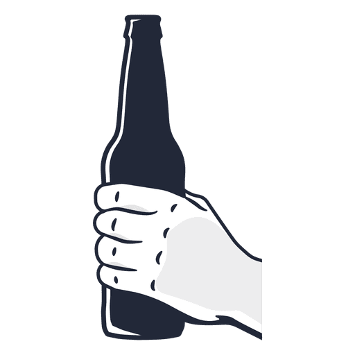 512x512 Hand Holding Beer Bottle