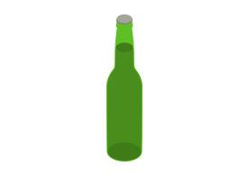 275x195 Isometric Vector Beer Bottle