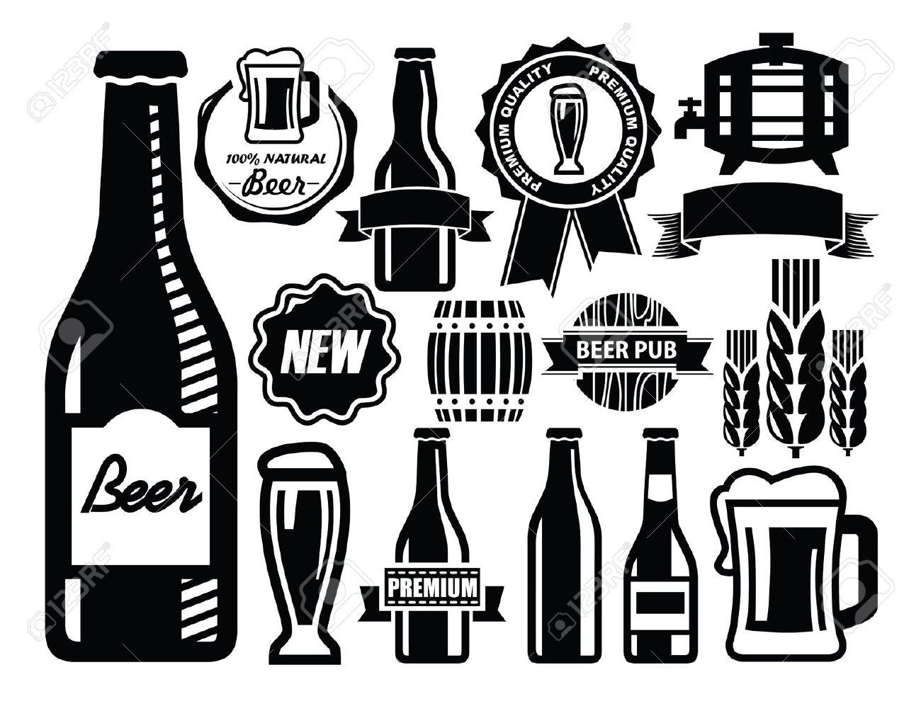 1300x997 Beer Bottle Clipart Vector