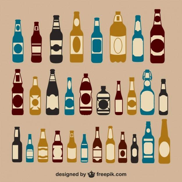 626x626 Beer Bottles Pack Vector Free Download