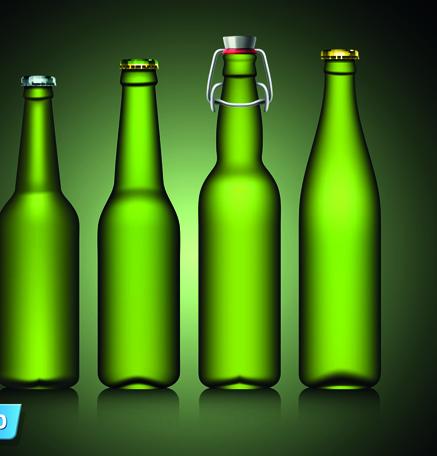 437x456 Different Beer Bottle Design Elements Vector 03 Free Download