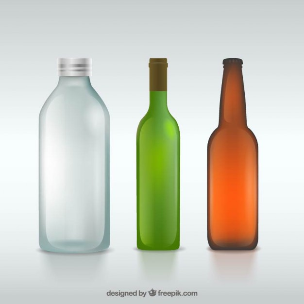 626x626 Glass Bottles Vector Free Download