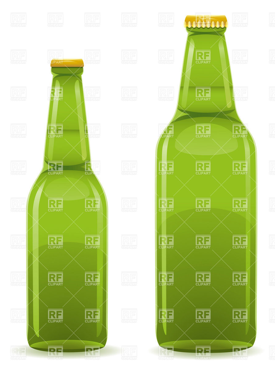 894x1200 Green Closed Beer Bottle Without Label Vector Image Vector