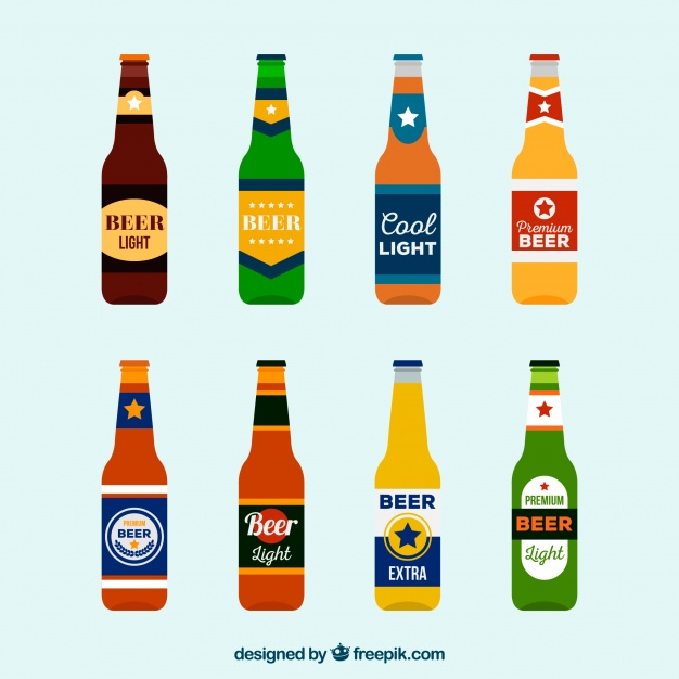 626x626 Vector Beer Bottle Label