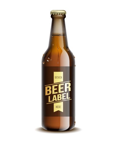 500x600 Beer Bottle With Water Drop Vector Free Download