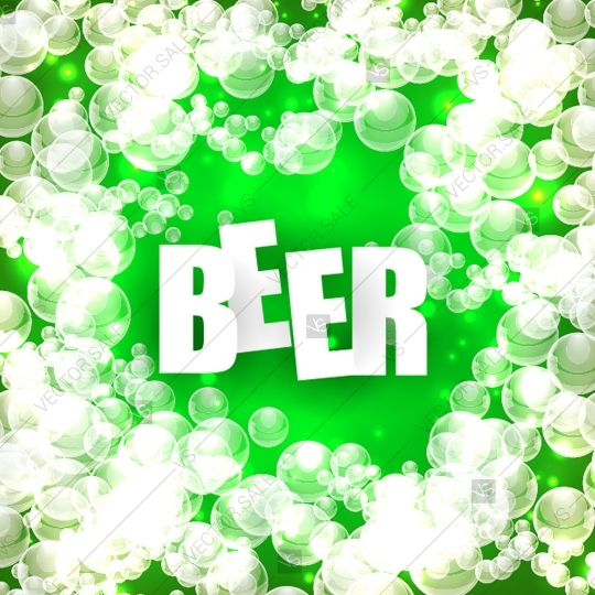 540x540 Beer Bubbles Background Poster