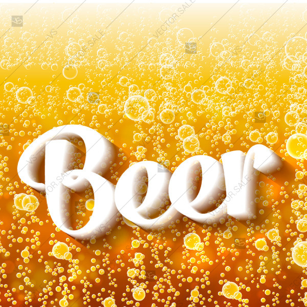 600x600 Beer Bubbles Background Poster Bridal Shower Invitation