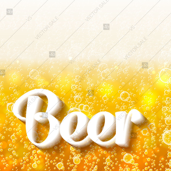 600x600 Beer Bubbles Background Poster Custom Invitation