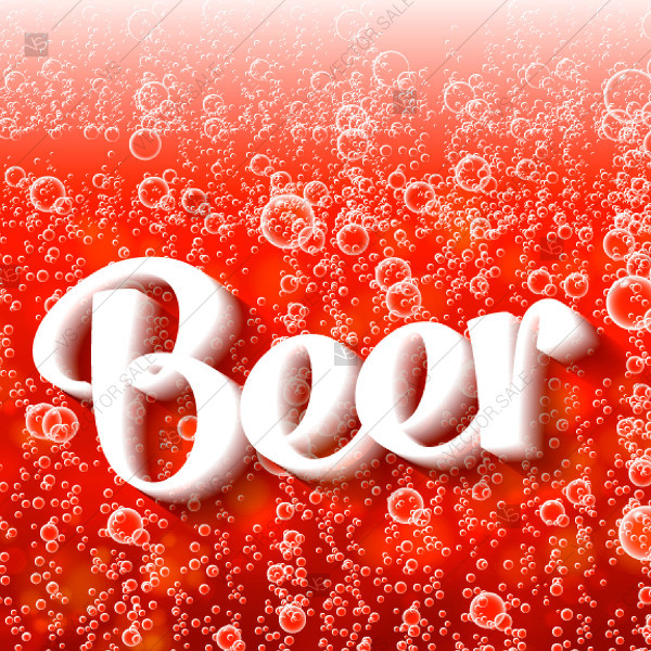 600x600 Beer Bubbles Background Poster Thank You Card Red