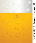 153x179 Free Art Print Of Bubbles Beer Over Yellow . Bubbles Beer Over