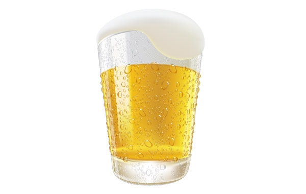 600x380 Lifelike Beer Glasses And Beer Bubbles Vector Free Download
