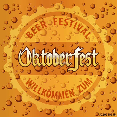 500x500 Oktoberfest Beer Festival With Beer Bubbles Foam Texture