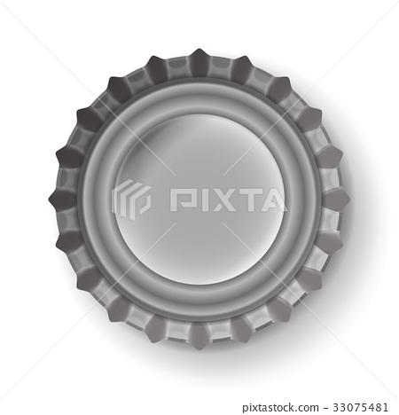 450x468 Beer Cap Vector. Metallic Bottle Cap Isolated