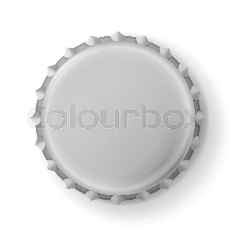 800x800 Beer Cap Vector. Metallic Bottle Cap Isolated On White Background