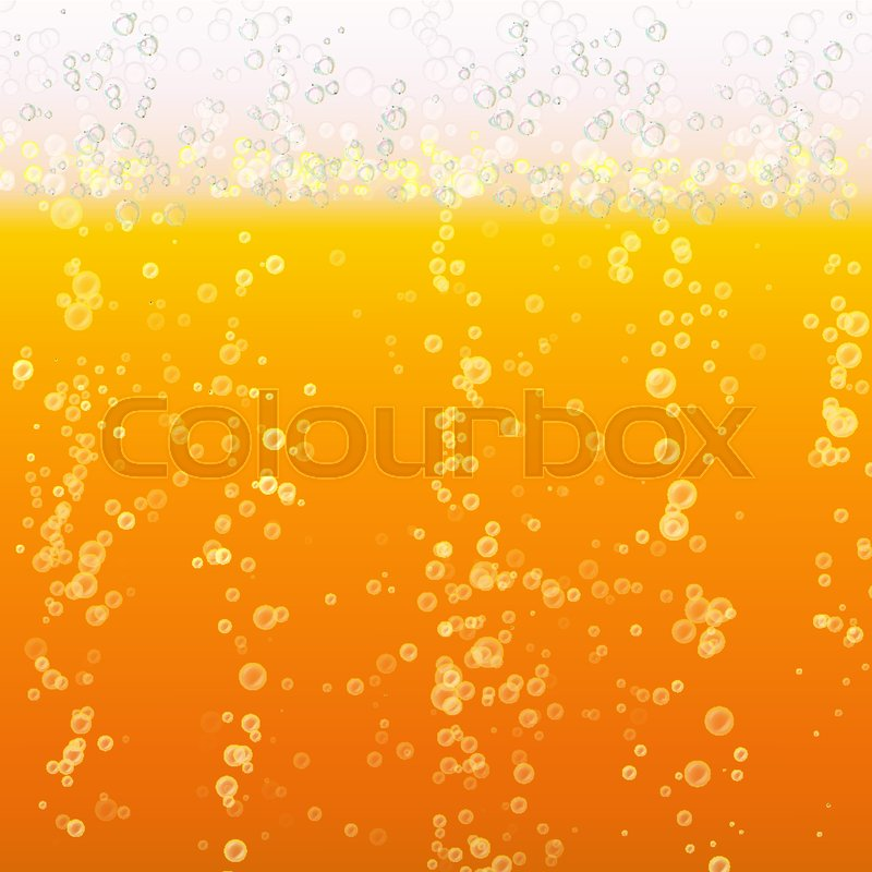 800x800 Beer Foam Background. Light Bright, Bubble And Liquid. Vector