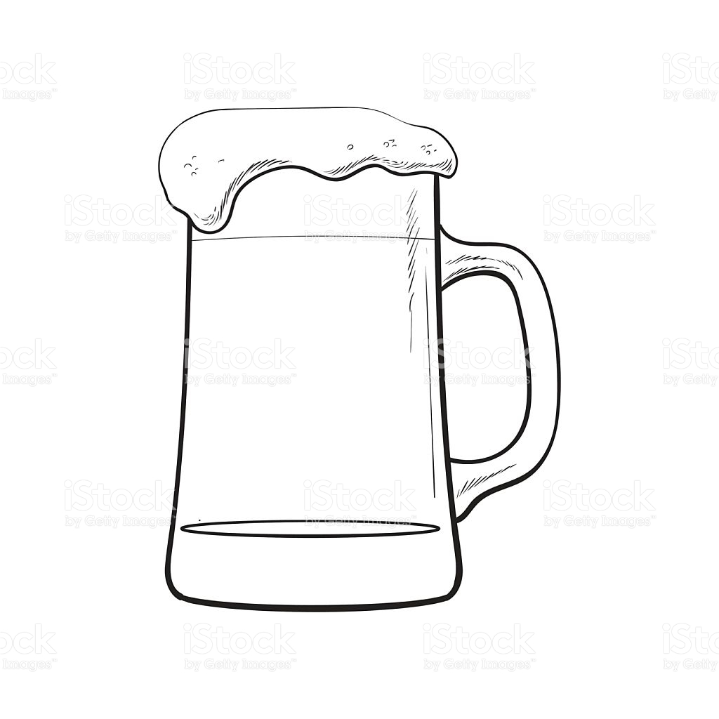 1024x1024 Foam Clipart Beer Glass