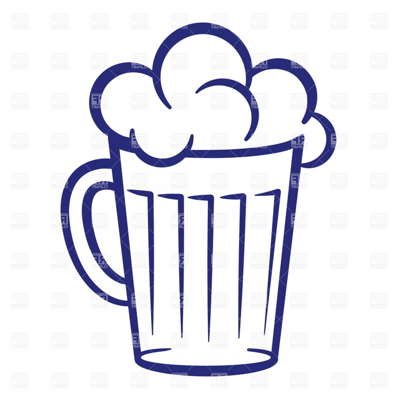 1440x1440 Simple Mug Of Beer With Foam Vector Clipart Lazttweet