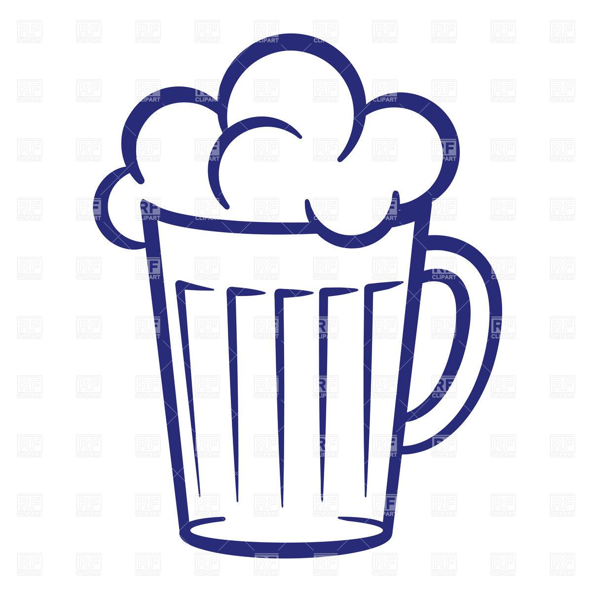 1200x1200 Simple Mug Of Beer With Foam Vector Image Vector Artwork Of Food