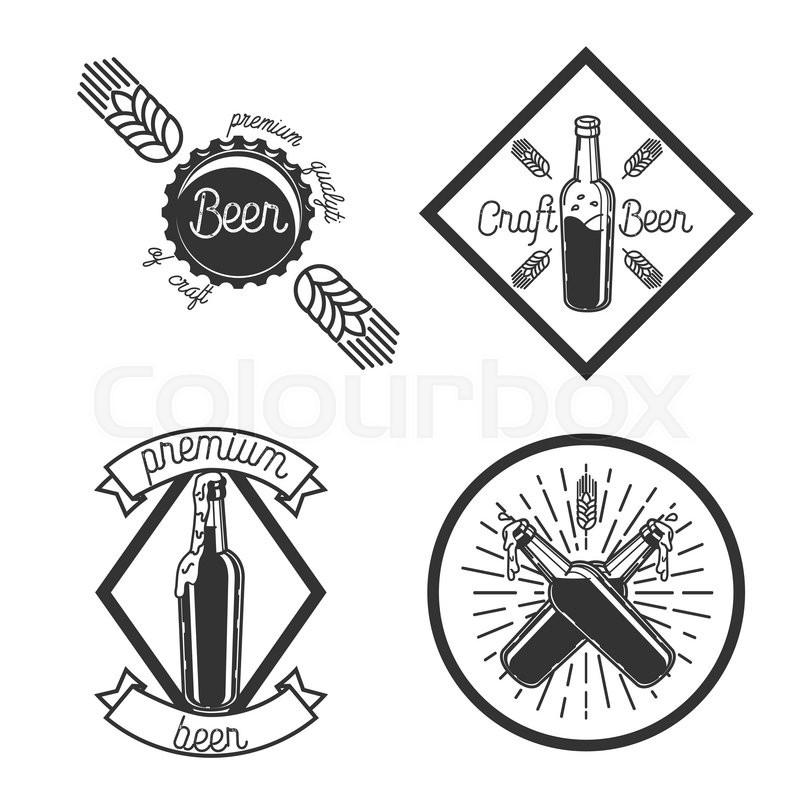 800x800 Vintage Beer Brewery Emblems. Beer Labels Vector Set. Beer Badge