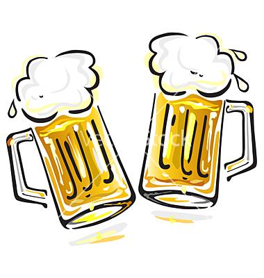 380x400 Beer Mugs Cheers Clipart