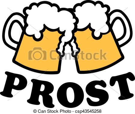 450x380 Beer Mugs With German Cheers.