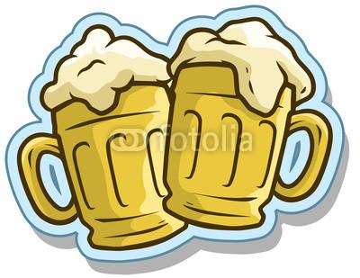 400x309 Cartoon Cool Beer Mugs Vector Sticker Icon Buy Photos Ap