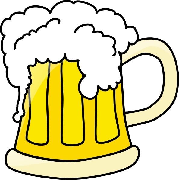 594x596 Mug Clipart Beer Bottle ~ Frames ~ Illustrations ~ Hd Images