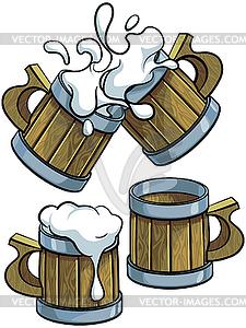 225x300 Set Of Wooden Beer Mugs