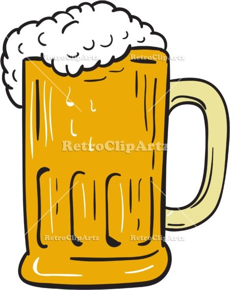 468x590 Beer Mug Drawing Vector Stock Illustration. Drawing Sketch Style