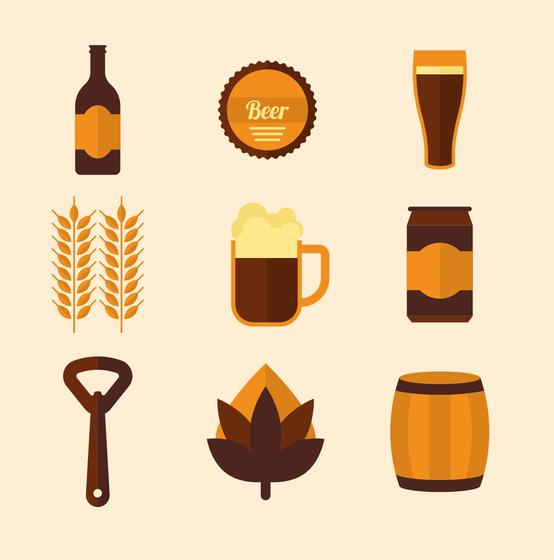 554x560 Beer Vector Icons