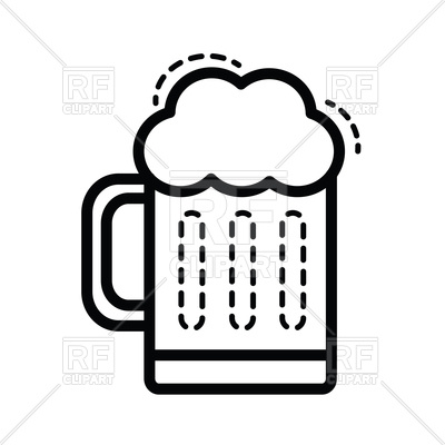 400x400 Beer Icon Line Vector Image Vector Artwork Of Food And Beverages