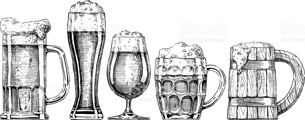 1024x405 Drawn Beer Sketch