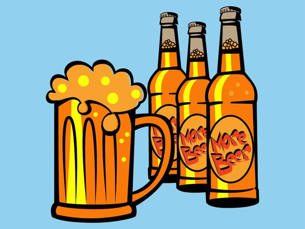 1024x768 Drinking Beer Vector Art Amp Graphics