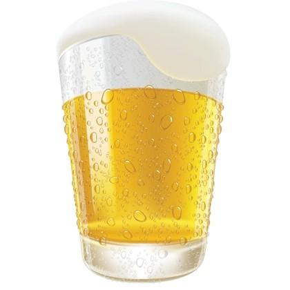 420x420 Lifelike Beer Glasses And Beer Bubbles Vector Graphic Vector Art