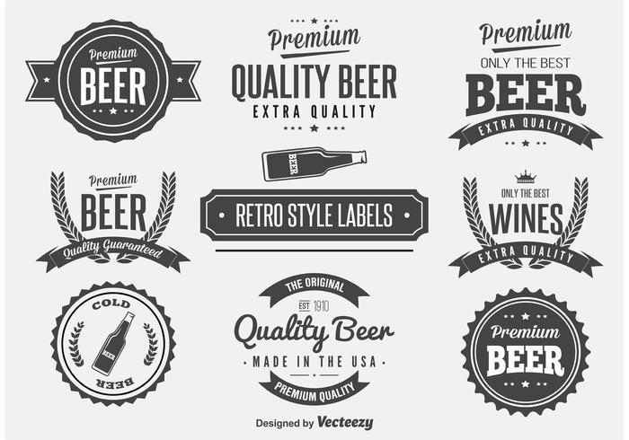 700x490 Retro Beer Label Vectors