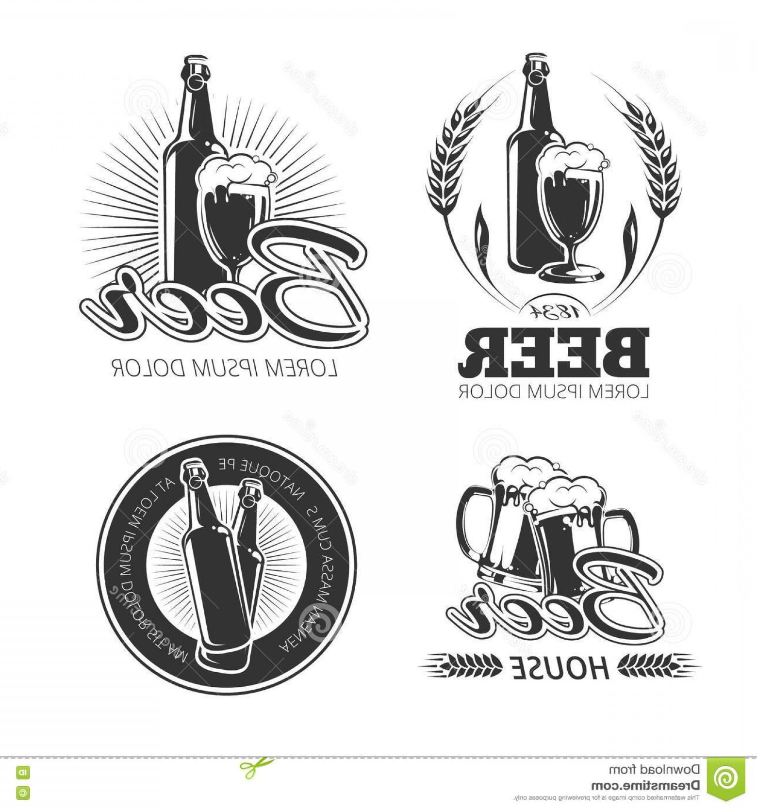 1560x1668 Stock Illustration Vintage Beer Vector Emblems Labels Badges Logos