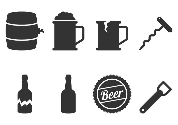 700x490 Beer Icon Vectors