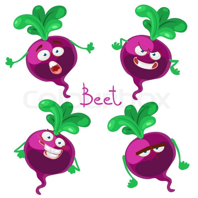 800x800 Funny Cartoon Vegetable Beet Stock Vector Colourbox