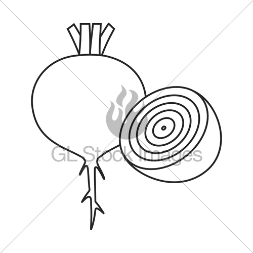 500x500 Line Icon Beet Gl Stock Images