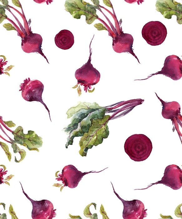 583x700 Watercolor Beet Vector Pattern Wall Mural We Live To