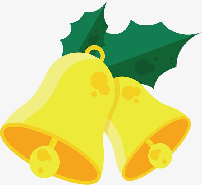 650x595 Golden Christmas Bells, Vector Png, Small Bell, Jingling Bell Png