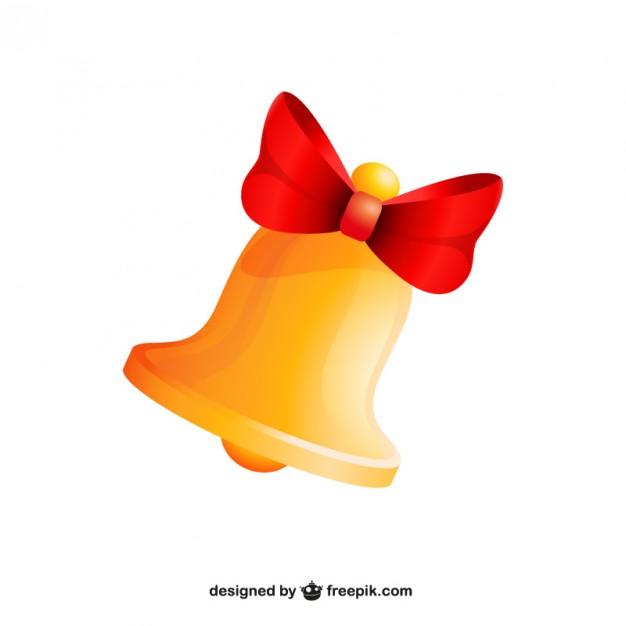 626x626 Golden Christmas Bell Vector Free Download
