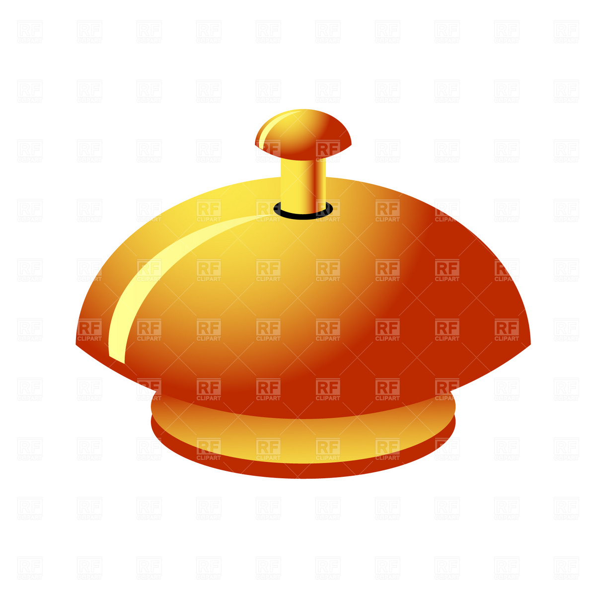 1200x1200 Reception Service Bell Vector Image Vector Artwork Of Objects