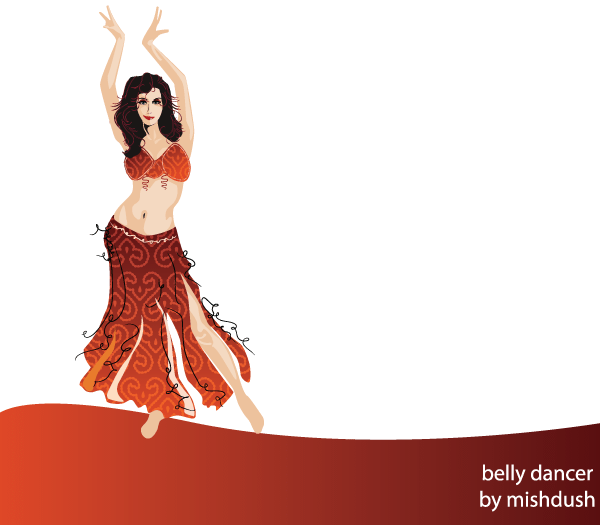 600x525 Belly Dancer Free Vector 123freevectors