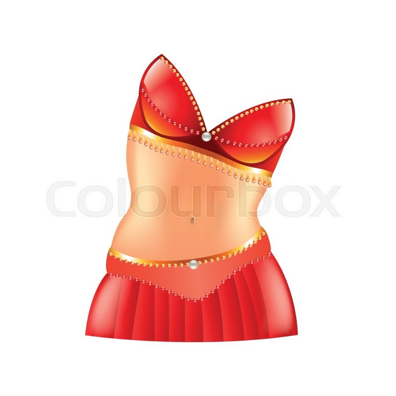 800x800 Belly Dance Icon Isolated On White Photo Realistic Vector