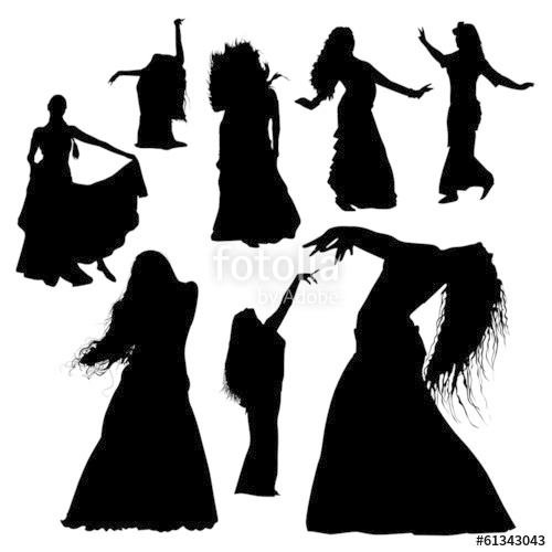 500x500 Belly Dance Silhouettes Stock Image And Royalty Free Vector Files