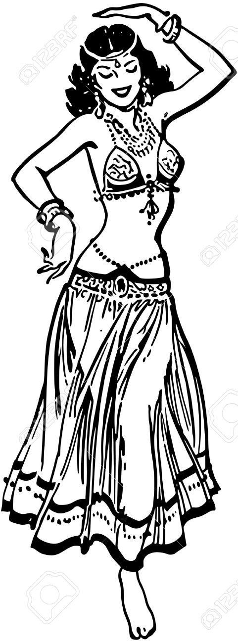 481x1300 Belly Dancer Clipart