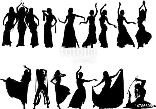 500x351 Belly Dancing Silhouette Collection Stock Image And Royalty Free