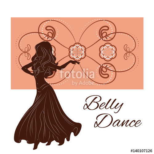 500x500 Silhouette Of A Woman Dancing Belly Dance Stock Image And Royalty
