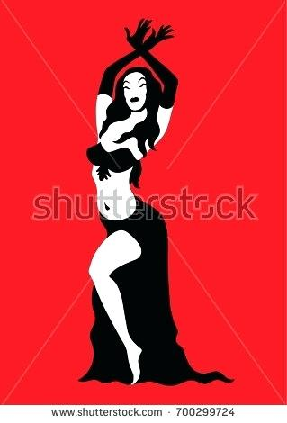 319x470 Belly Dance Clip Art Belly Dancer Silhouette Vector Illustration